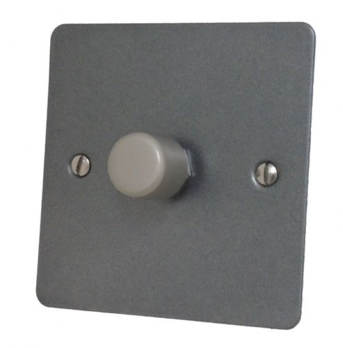 G&H FP11 Flat Plate Pewter 1 Gang 1 or 2 Way 40-400W Dimmer Switch